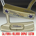 2 34 inches of ■ Scottie Cameron California Hollywood shop rat stamp purple / white MID grip custom putters
