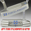 2 35 inches of 2 ■ Scottie Cameron studios-style Newport go getter stamp turbo blue / white MID grip LH custom putters