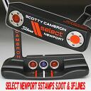 2 5 3 34 inches of ■ Scottie Cameron select Newport variety stamp site dot & フランジラインピストレロオレンジピールグリップ custom putters