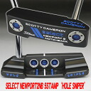 2 2 5 34.5 inches of ■ Scottie Cameron select Newport notchback hall sniper stamp on-site translation in & 3 francs JAPAN LINE turbo blue / white MID grip custom putters