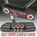 2 2.6 3 35 inches of ■ Scottie Cameron select Newport dancing & rolling shop rat stamp フランジラインオレンジピールピストレログリップ custom putters