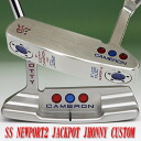 2 ■ Scotty Cameron Studio select Newport 2 jackpot Johnny white / red MID grip 34 incicastampatter