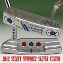 2 ■ Scotty Cameron 2012 select Newport 2 Siver color plated white / red MID grip 34 incicastampatter