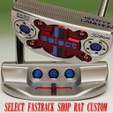 2 ■ Scotty Cameron 2014 select fastback shop rat stamps gogetter & junkyard dog weight Turbo blue / white MID grip 34 incicastampatter