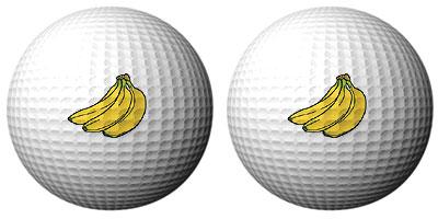 バナナゴルフボール
