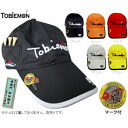 The golf cap marker with 4 ■ TOBIEMON 飛衛門 pockets is attached