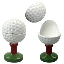Two 4 ■ golf balls type salt shaker & egg holder sets (golf miscellaneous goods tableware present competition prize premium)