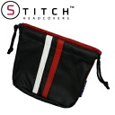 5 ■ TEMGSTP2 black leather Golf pouch