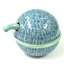 Hakusan porcelain HAKUSAN C type soy sauce pot blue kitchen utensils, tableware, Cookware utensils and Stocker, condiment containers seasoning sauce-source feed