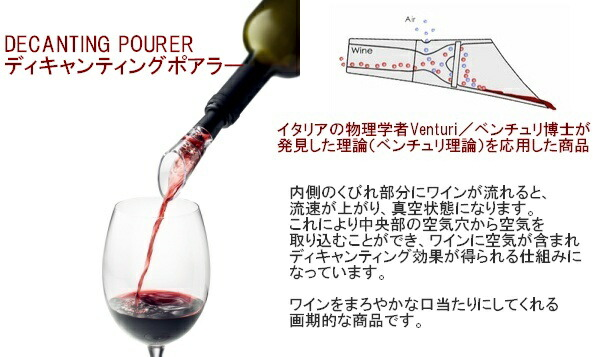 HUG ONLINE SHOP/menu Decanting Pourer/デキャンティングポーラー