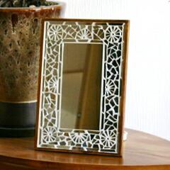 HUG ONLINE SHOP/Mosaic Mirror シルバー/Sサイズ