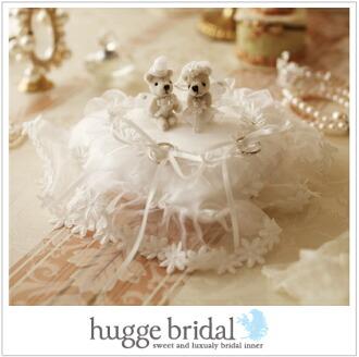 (已完成) 的可愛枕頭心熊 / 婚禮婚禮結婚戒指寶貝熊優雅的白色禮物禮物禮物案例女孩戒指