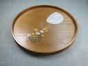 Kishu lacquerware 30cm round tray paulownia moon rabbit