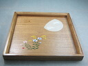 Kishu lacquer ware 27 cm corner basin Tung Moon rabbit Japanese plates