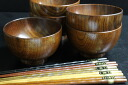 Set wooden bowl Kyoto model chopsticks set 10P02jun13 10P01Sep13 of a wooden bowl and chopsticks