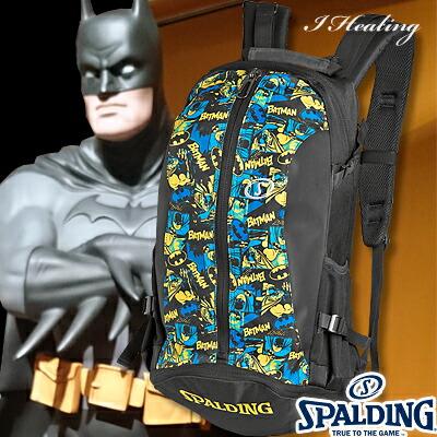 スポルディング ケイジャー バットマン BATMAN ブラックブルー バスケットボール収納バッグ SPALDING40-007BM