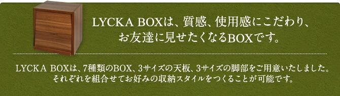 「LYCKA CUBE BOX」は、質感、使用感にこだわった、お友達に見せたくなるキューブボックスです。