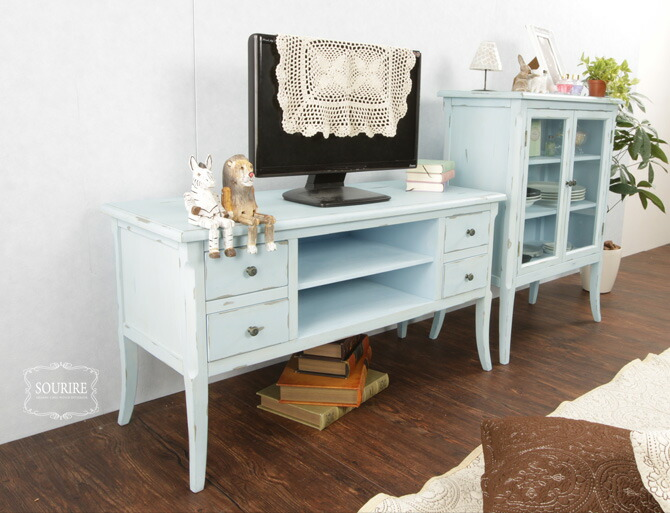 i office1 rakuten global market tv stand width 100 cm antique style shabby chic sourire d 40. Black Bedroom Furniture Sets. Home Design Ideas