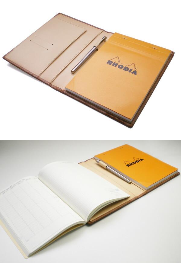 ブライドルレザー・ロディアNO.16専用・本革カバー