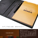 Real leather memo cover Mother's Day for ロディア NO .16, Father's Day, Respect for the Aged Day, a birthday, a present are handmade and are original