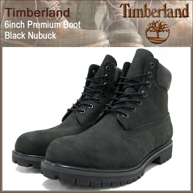 Black Nubuck Timberland Boots Men