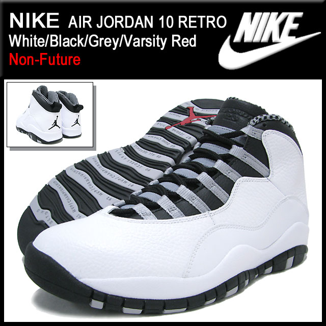 ice field | Rakuten Global Market: Nike NIKE sneakers Air Jordan 10 retro White/Black/Grey/Varsity Red non future men\u0026#39;s (men\u0026#39;s) (nike AIR JORDAN 10 RETRO ...