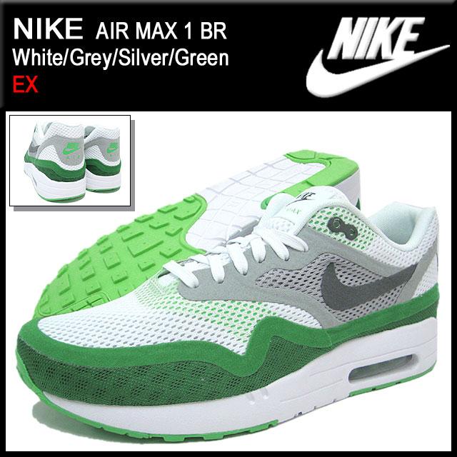 Nike NIKE sneakers Air Max 1 breeze White/Grey/Silver/Green limited edition men\u0026#39;s (men\u0026#39;s) (nike AIR MAX 1 BR EX Sneaker sneaker SNEAKER MENS-shoes shoes ...