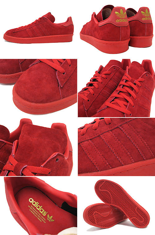 total red adidas campus