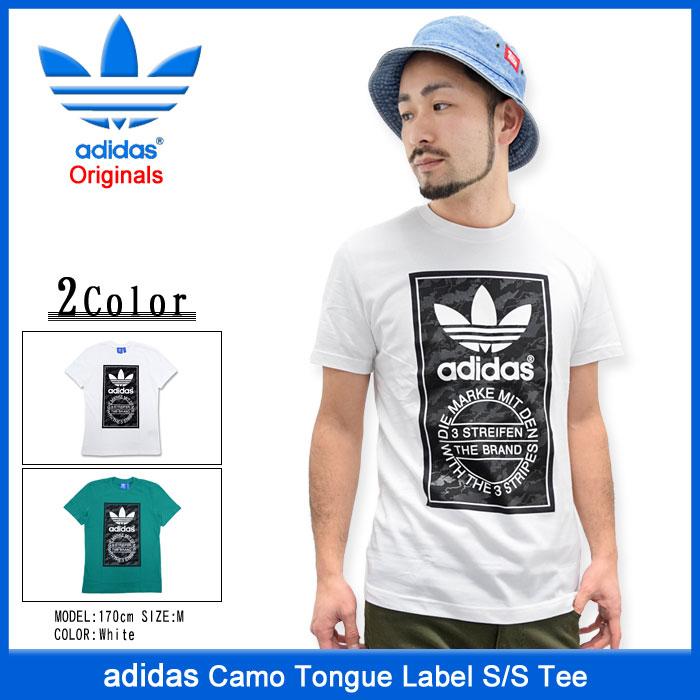 adidasアディダスのTシャツ Camo Tongue Label01