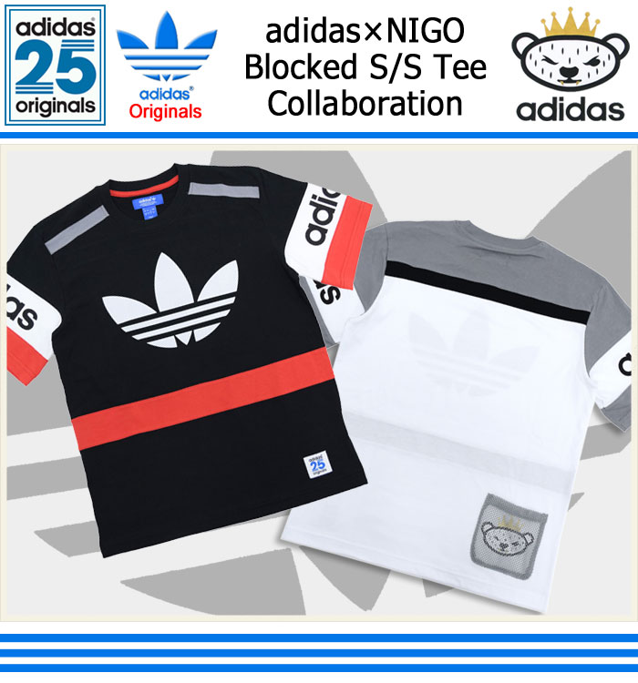 adidasアディダスのTシャツ NIGO Blocked01