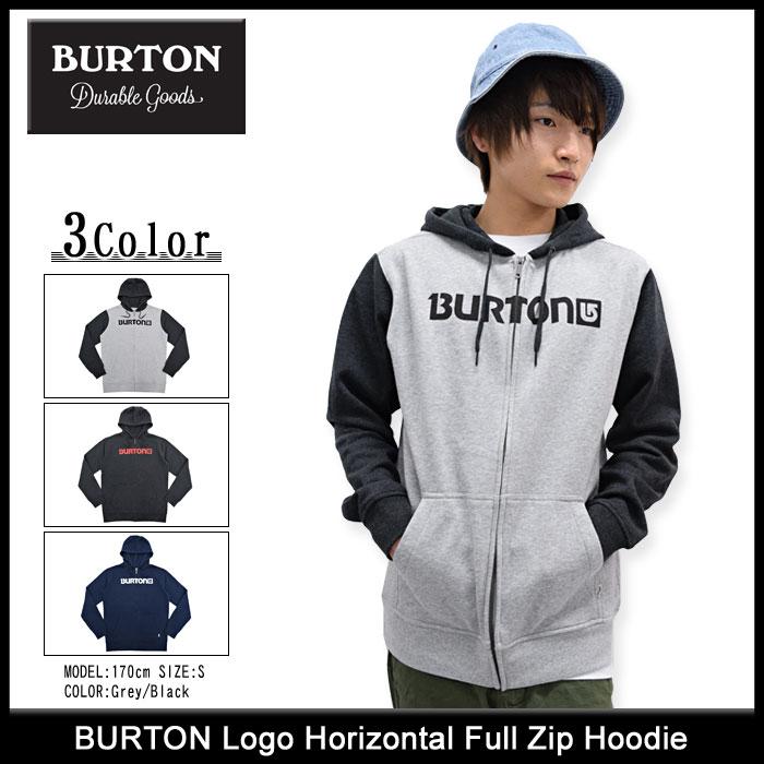 BURTONバートンのパーカー Logo Horizontal01