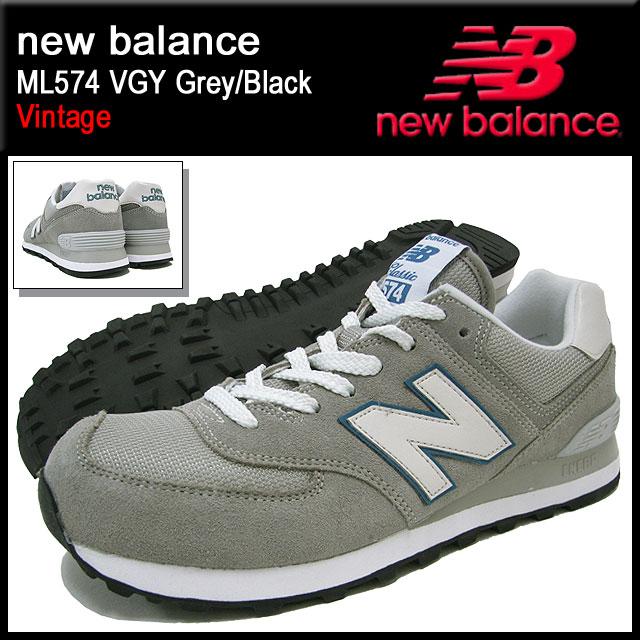 new balance 574 vintage Black