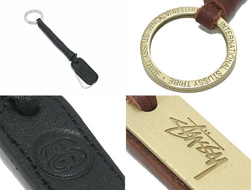 STUSSY���ƥ塼�����ξ�ʪ Leather Key Holder02