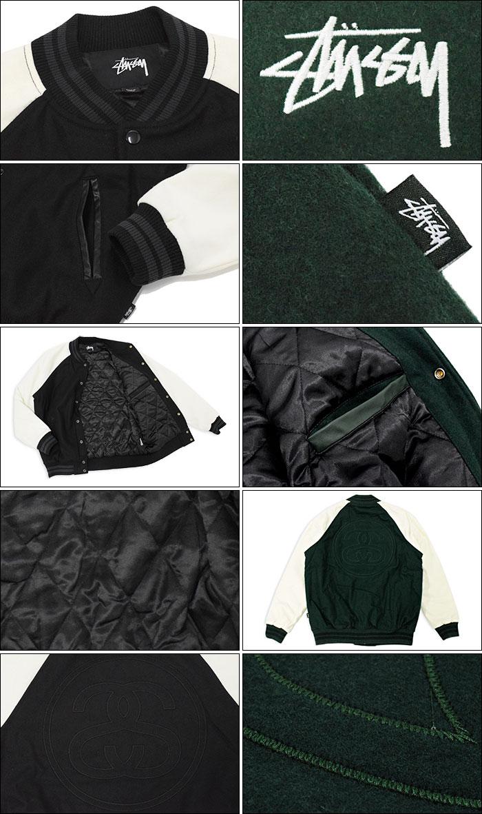 STUSSYステューシーのジャケット Two Tone Wool Varsity09