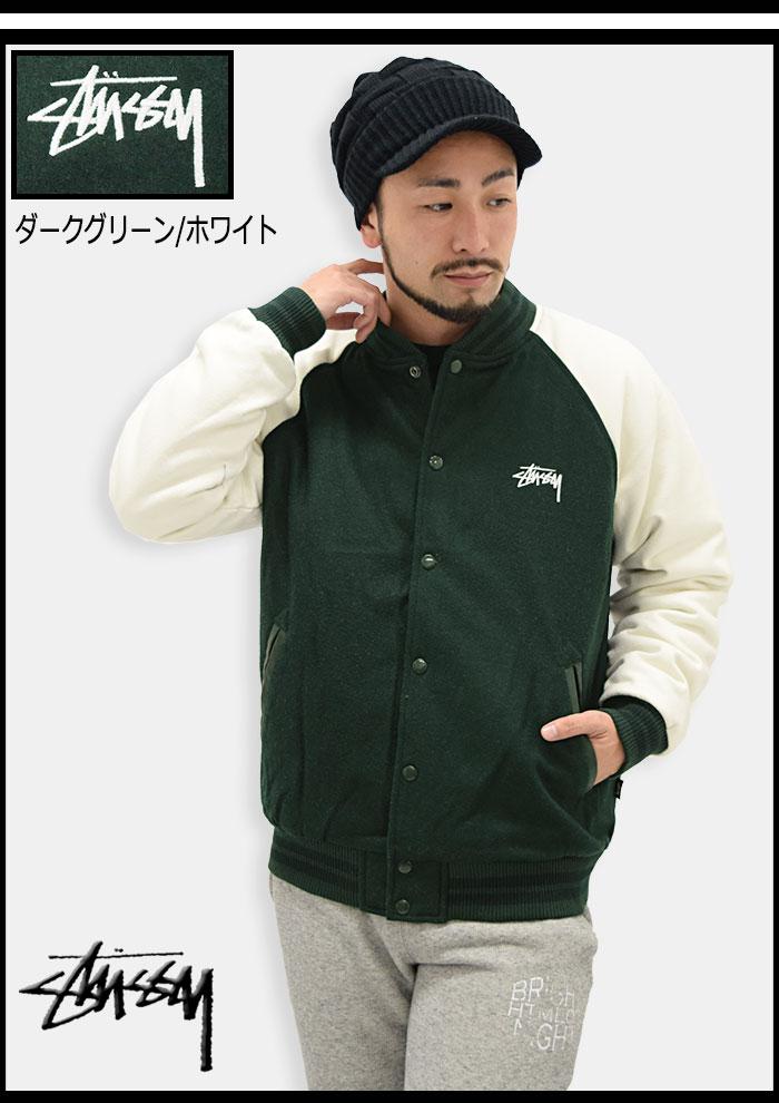 STUSSYステューシーのジャケット Two Tone Wool Varsity05