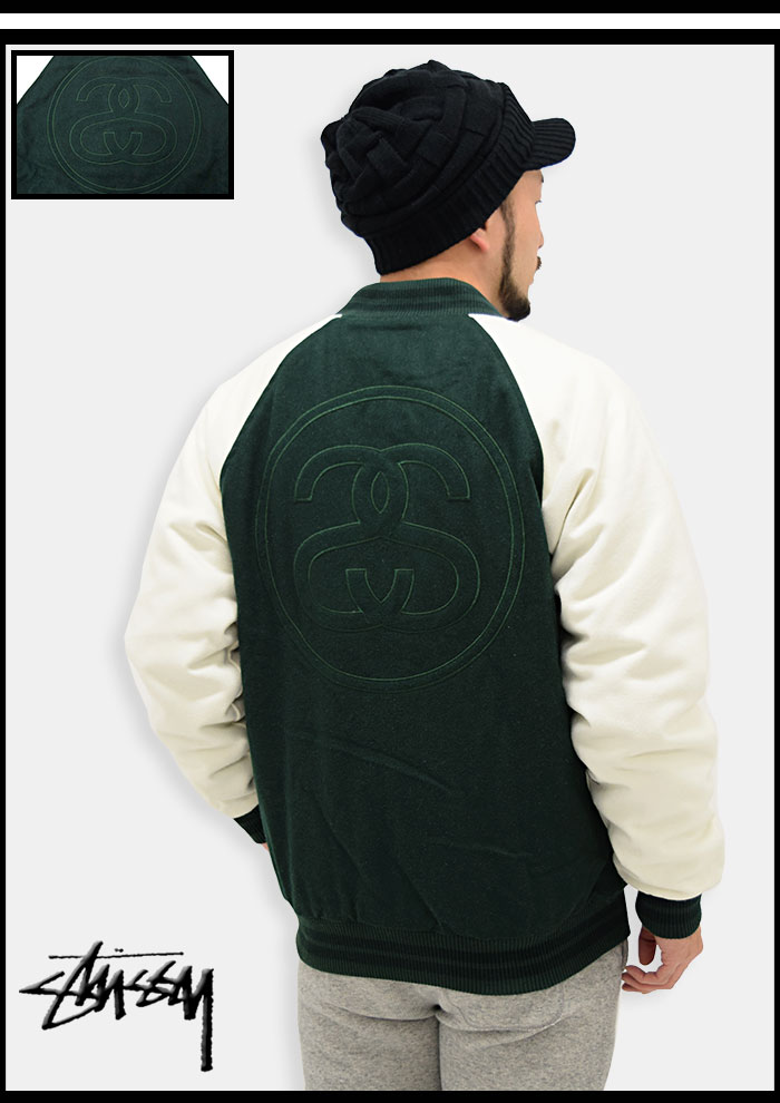 STUSSYステューシーのジャケット Two Tone Wool Varsity06