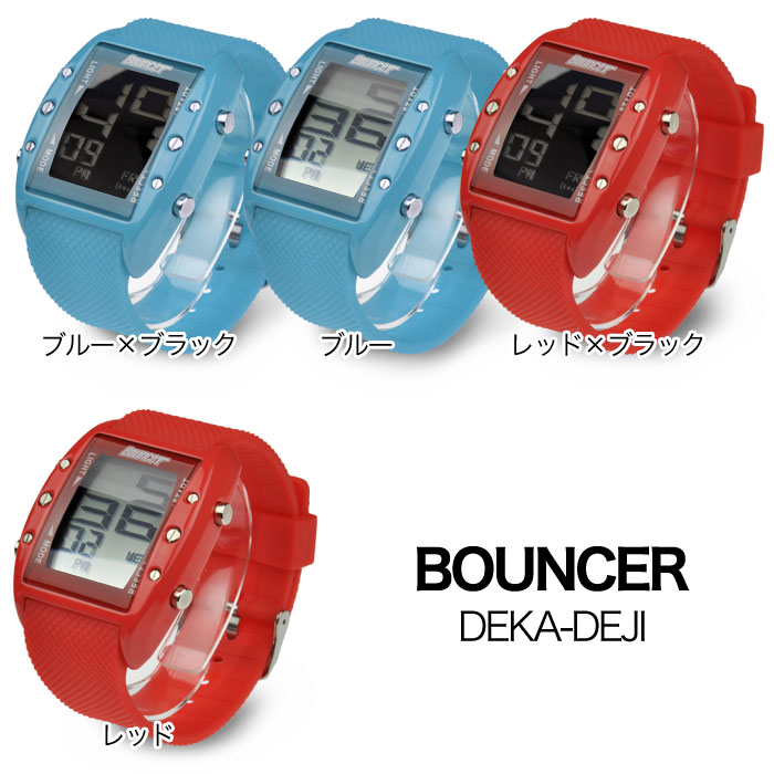 BOUNCERバウンサー/デカデジ腕時計送料無料