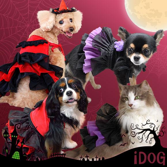 【犬服 ワンピース】iDog アイドッグ 魔女のドレス 【ハロウィン イベント パーティー】【犬の服 アイドッグ 国産 ドッグウェア ペットウェア】【犬 服 猫服】【i dog】【秋物】【冬物】:犬の服のiDog