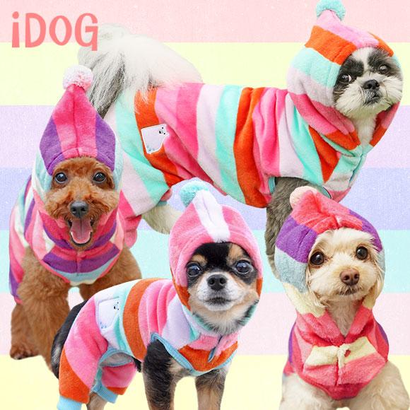 【楽天市場】【犬 服】 iDog アイドッグ さんかく帽子のしろくまレインボーつなぎ 【国産 犬の服】:犬の服のiDog