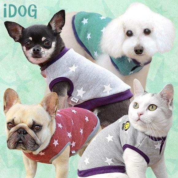 【楽天市場】【犬 服】 iDog アイドッグ 裏起毛スタースマイルタンク 【国産 犬の服】:犬の服のiDog