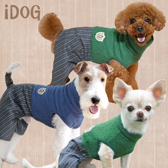 【犬 服 冬】 iDog アイドッグ IDOGエンブレムハイネックつなぎ 【国産 犬の服】:犬の服のiDog