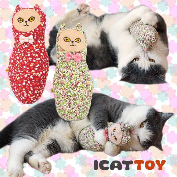 【猫 おもちゃ】 iDog&iCat アイキャット オリジナル ニャトリョーシカ キャットニップ入り 【けりけり】:犬の服のiDog