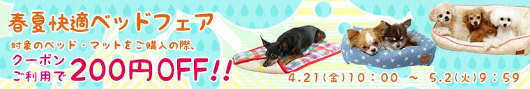 春夏ベッドフェア|iDog&iCat