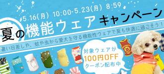夏の機能ウェアキャンペーン|iDog iCat