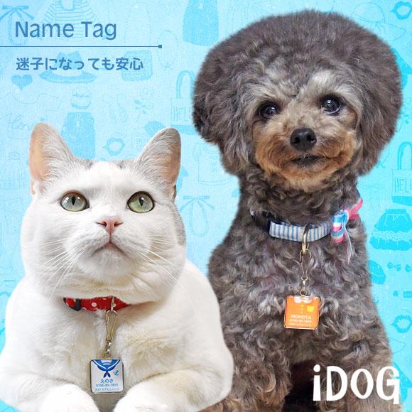 【迷子札 名札】 iDog&iCat ネームタグ【迷子札角丸】洋服 【ネームプレート ドッグタグ】:犬の服のiDog