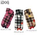 iDog eye dog star check fleece pajamas [M service half]