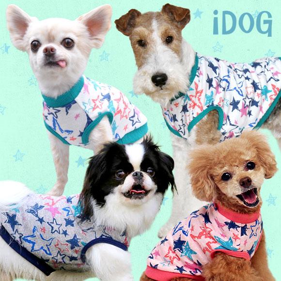 犬 服 iDog アイドッグ ペイントスタースウェットタンク 犬の服 犬服