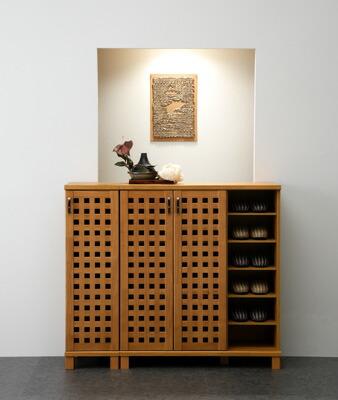wooden shoe cupboard 1