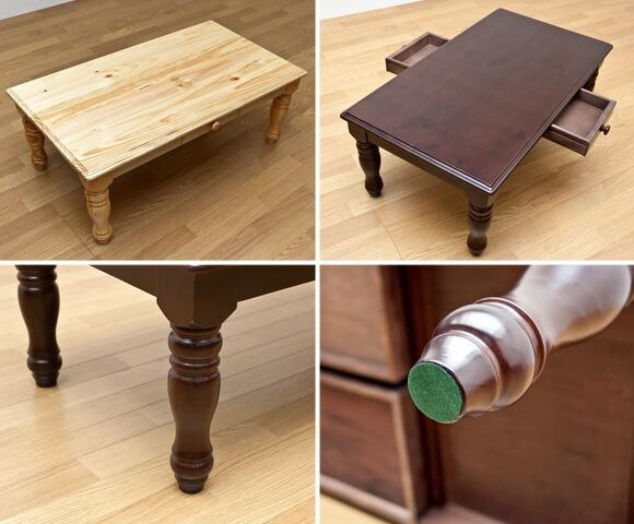 リビングテーブル ローテーブル 木製 100cm カントリー調