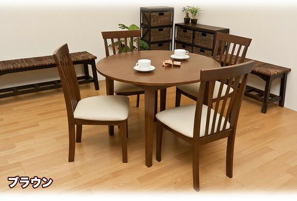 天然木製ダイニングテーブル 丸テーブル ダイニング,ラウンドテーブル イメージ写真